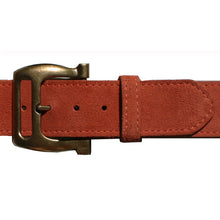 Load image into Gallery viewer, Slotted Buckle - Rusty Melon Suede