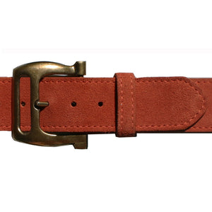Slotted Buckle - Rusty Melon Suede