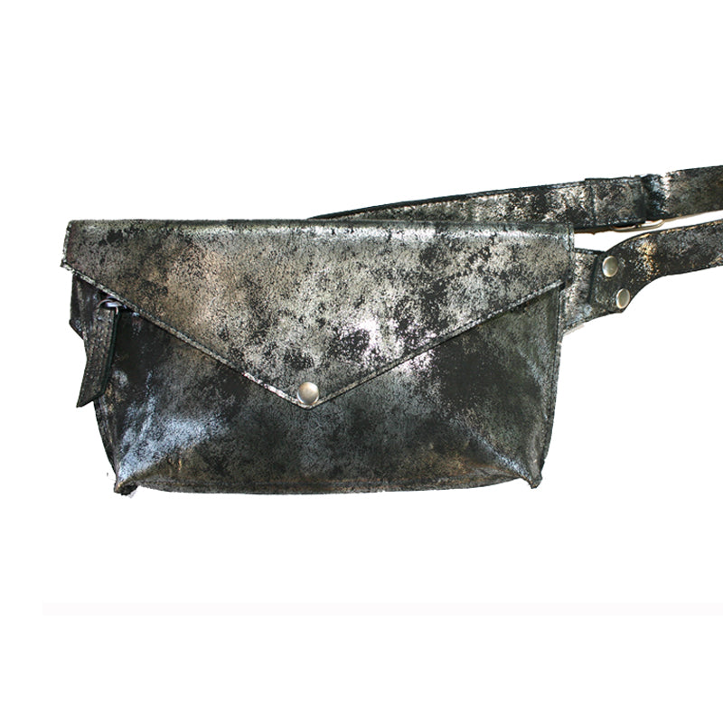 Seam-Out Fanny Pack - Smoky Black Metallic