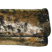 Load image into Gallery viewer, Baguette Clutch  - Smoky Gold Metallic
