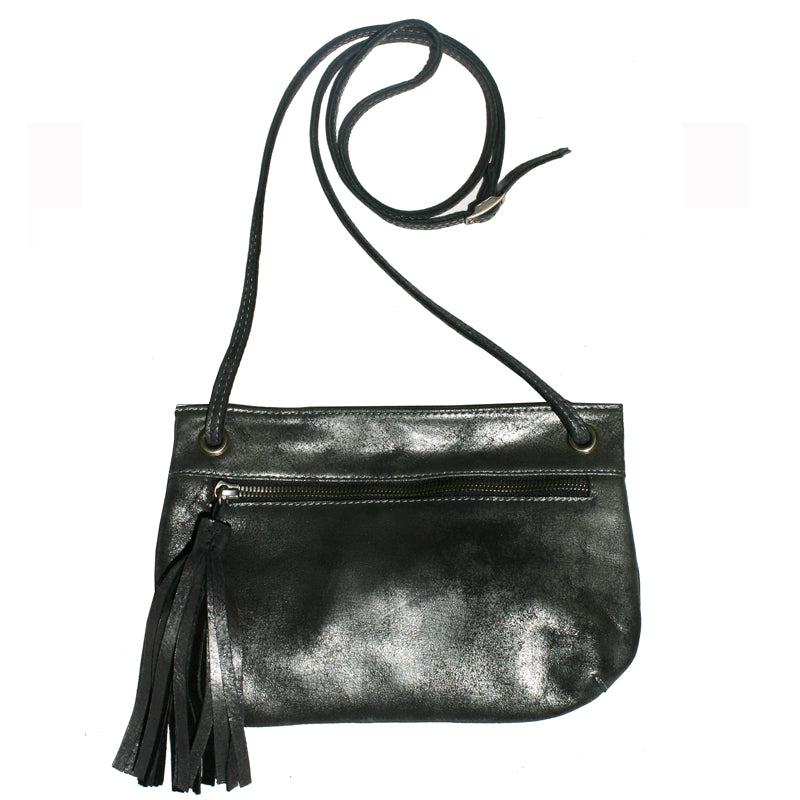 Tassel Bag - Dull Black Metallic