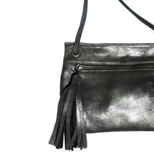 Load image into Gallery viewer, Tassel Bag - Dull Black Metallic