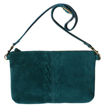 Load image into Gallery viewer, Laced Detail Bag - Teal Suede