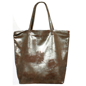 Tote Bag - Dull Brown Metallic