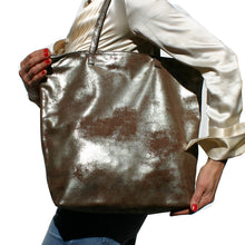 Load image into Gallery viewer, Tote Bag - Soft Brown Metallic