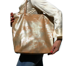 Load image into Gallery viewer, Tote Bag - Dull Neutral Metallic