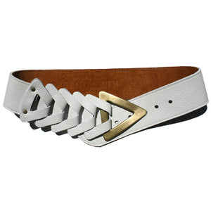 Triangle Waist Belt - Bright White
