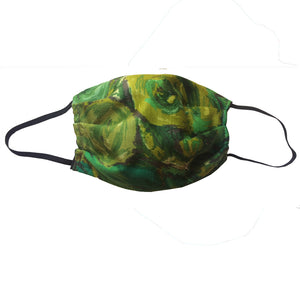 KW Mask - Vintage Avocado Abstract Floral