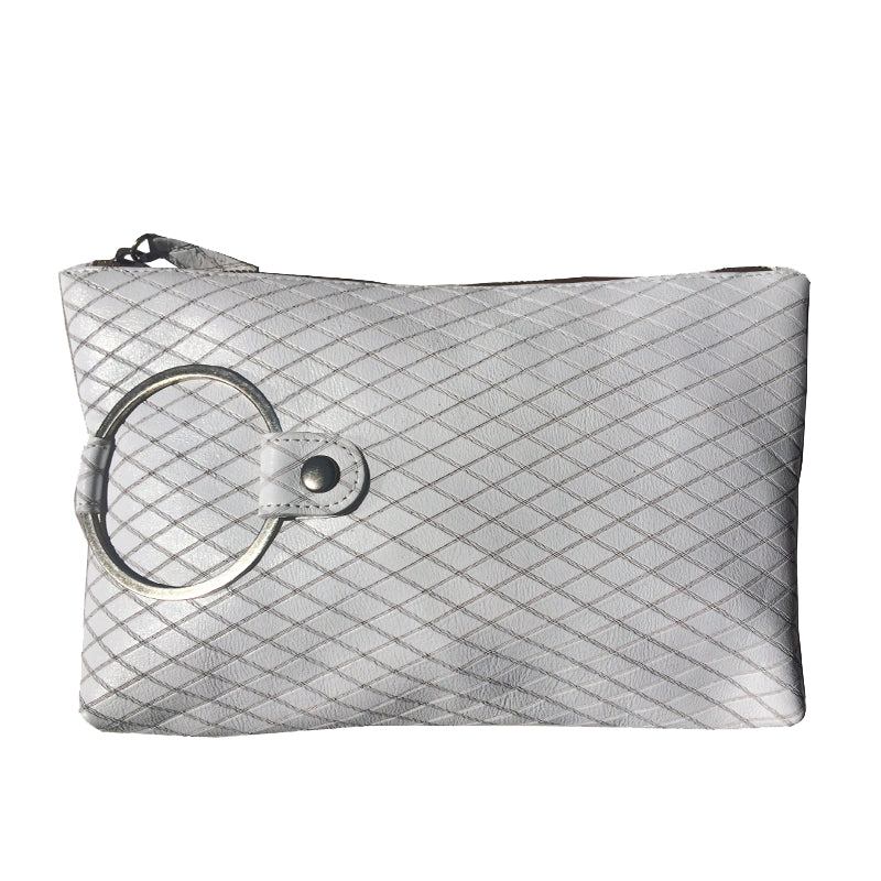 Ring Clutch - White Lazercut