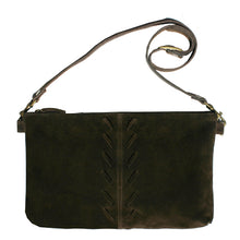 Load image into Gallery viewer, Laced Detail Bag - Chocolate Suede