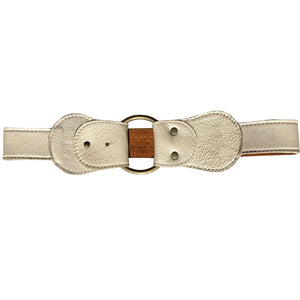 Flip-Back Waist Belt - Cream
