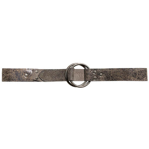 Double-Ring Belt - Antique Silver Metallic
