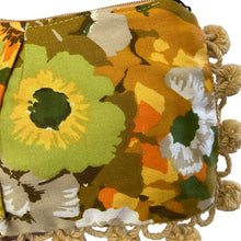 Load image into Gallery viewer, Golden Floral Pom Pom Bag