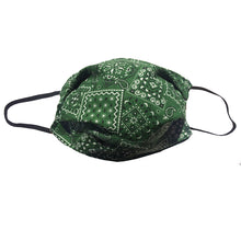 Load image into Gallery viewer, KW Mask - Green Bandana