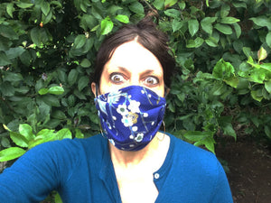 KW Mask - Romantic Floral on Blue