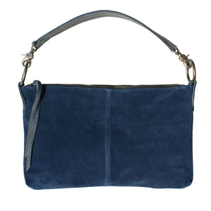 Slouchy Bag - Royal Blue Suede