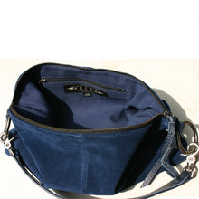 Load image into Gallery viewer, Slouchy Bag - Royal Blue Suede