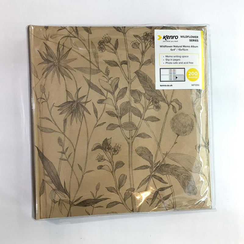 Wildflower Album 200 6x4 (Brown)
