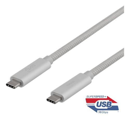USB-C SuperSpeed cable, 1m, braided, USB 3.1 Gen 2