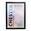 Chester Large Black Poster Frame for Photographs, Illustrations Movie Posters