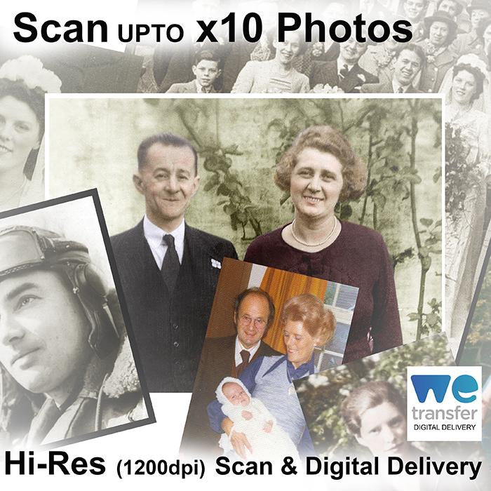 Scan upto x10 Photos (hi-res)