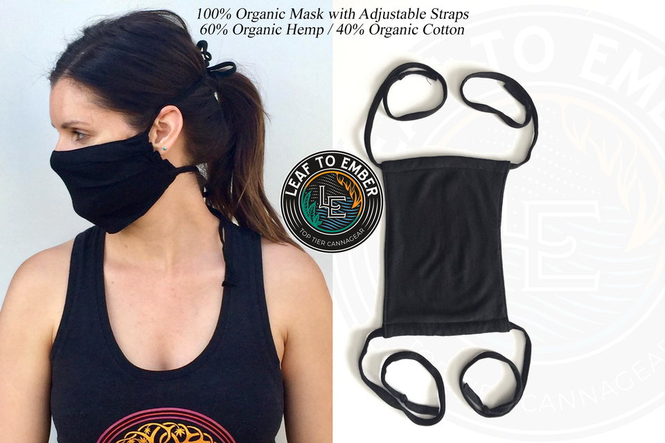 Adjustable Organic Face Masks made in Oregon USA