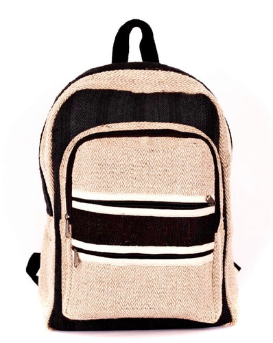 Herringbone Hemp Backpack - leaftoember.com