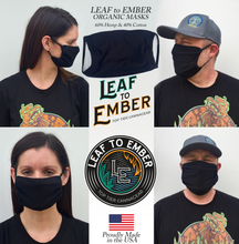 Load image into Gallery viewer, Organic Hemp & Organic Cotton Face Mask with Elastic Straps - leaftoember.com