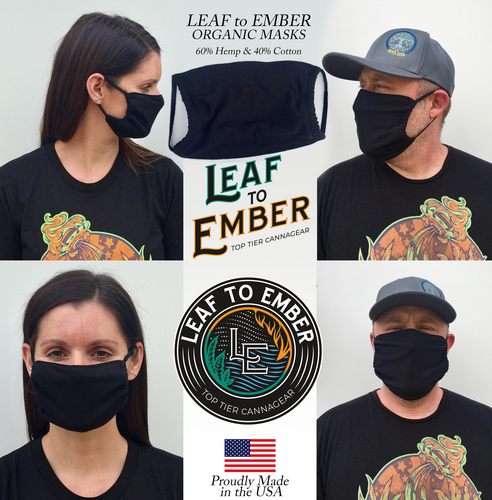 Organic Hemp & Organic Cotton Face Mask with Elastic Straps - leaftoember.com