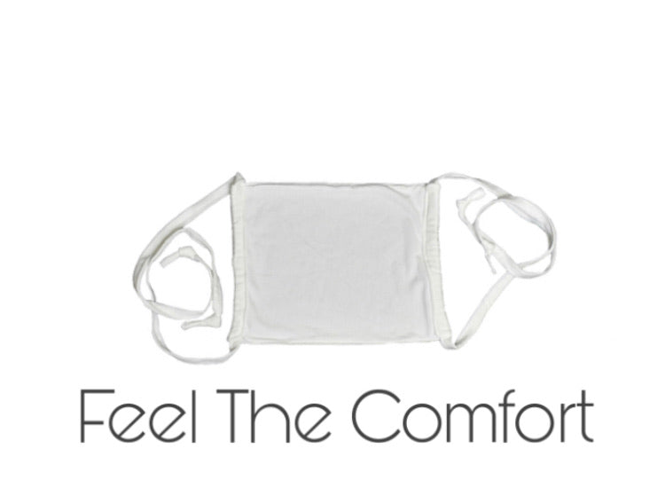 Viscose Organic Bamboo & Organic Cotton Face Mask with Adjustable Straps - White - leaftoember.com