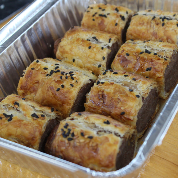fingerfood - Homemade Sausage Rolls, Chutney (tray of 10)