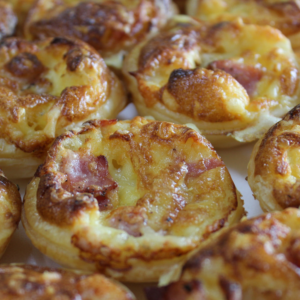 Fingerfood - Mini Quiche - Ham & Cheddar (tray of 10)