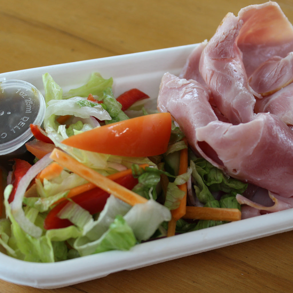 Lunch Boxes - Leg Ham, Garden Salad, Relish   (gf,df)
