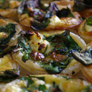 Fingerfood - Mini Quiche - Spinach & Ricotta (veg) (tray of 10)