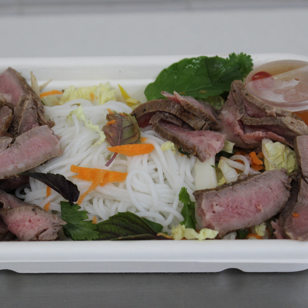 Lunch Box - Thai Beef Rice Noodle Salad (gf,df)
