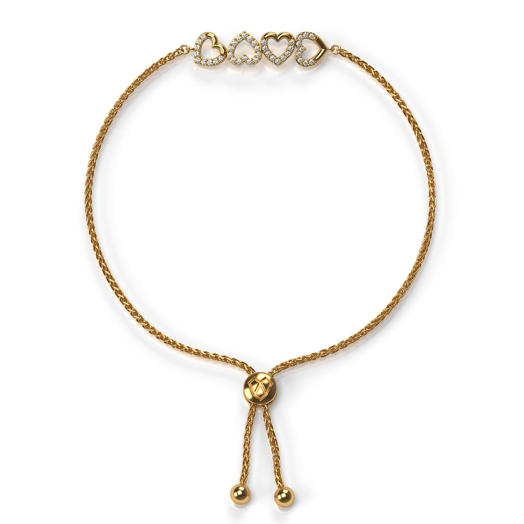 Hearts for LOVE Bolo Bracelet