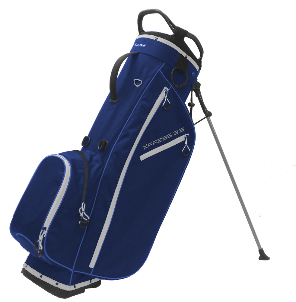 Xpress 3.5 4-way Stand Bag Navy/Silver