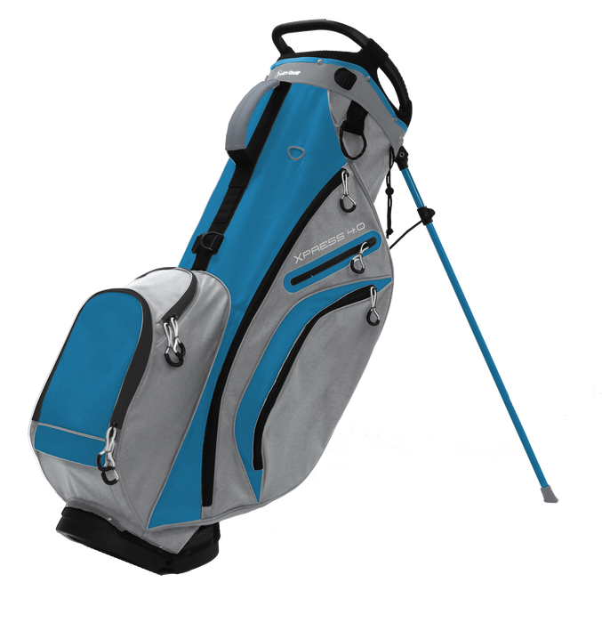 Xpress 4.0 6-way Stand Bag Light Gray/Sky BLue