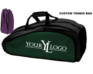 Custom Tennis Bag Black