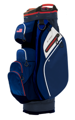 Z-100 15-way Cart Bag Navy/Red/White