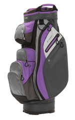 Z-100 15-way Cart Bag Dark Gray/Light Gray/Violet