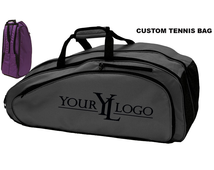 Custom Tennis Bag Dark Gray