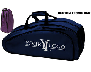 Custom Tennis Bag Navy Blue