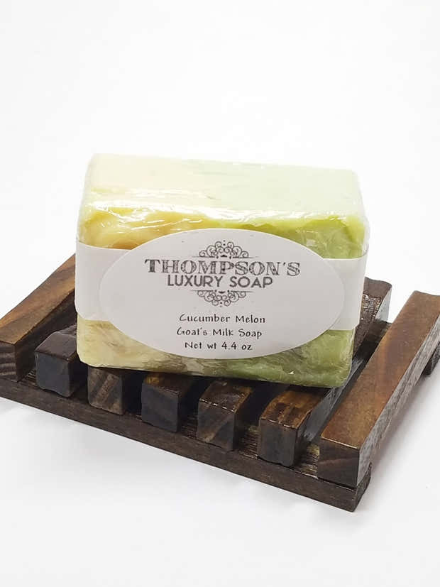 Cucumber Melon Goat's Milk Soap, with Shea and Cocoa Butter 1