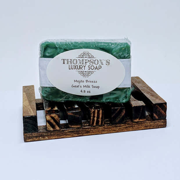 Mojito Breeze All Natural Goat's Milk Soap Bar with Essential Oils. 1