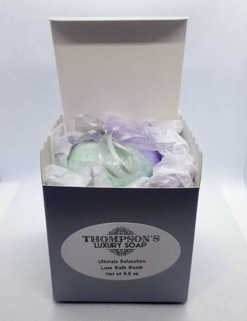 Ultimate Relaxation Luxe 4.5 oz. Bath Bombs with Essential Oils - Thompson's Luxury Soap