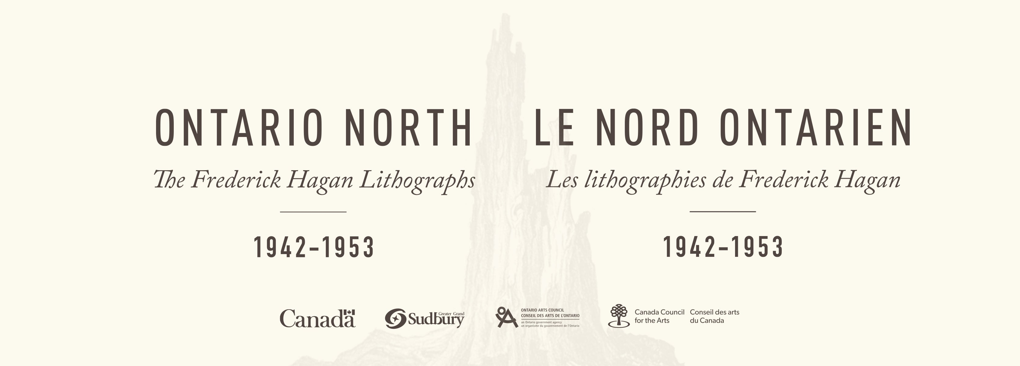 Ontario North: The Frederick Hagan Lithographs 1942-1953 Exhibit Title Card