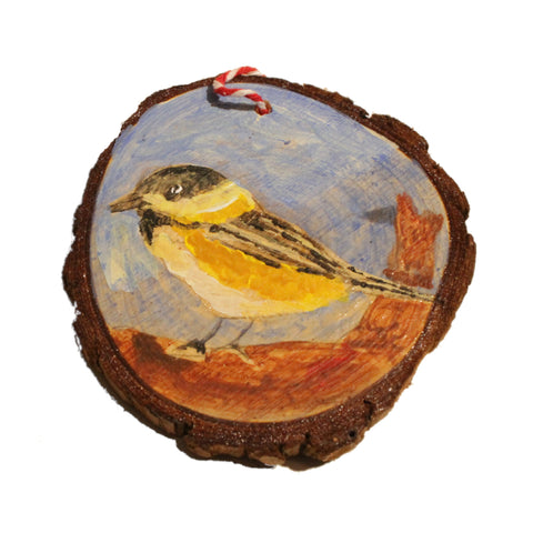 Black and Yellow Bird Ornament