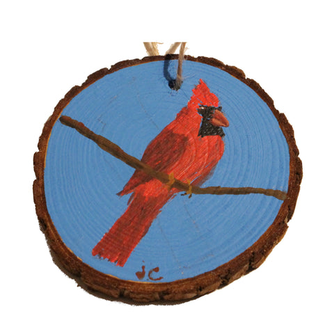 Cardinal & Blue Sky Ornament