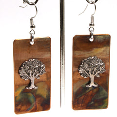 Copper Tree of Life Earrings